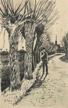 Road with Pollard Willows - Vincent van Gogh