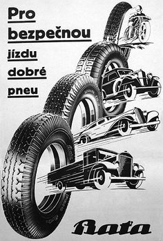 Baťa Tires Advertising, ca 1940