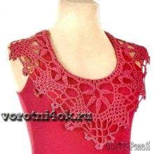 Nice way to dress up a plain tank top….Lovely crochet pattern