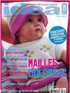 Photo : Knitting Magazine, Crochet Magazine, Knit Crochet, Crochet Hats, Top Les, Catalogue, Sleeping Bag, Baby Knitting, Creations