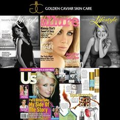Did you know Golden Caviar Skin Care has been featured in some of the hottest magazine's including Allure, US and Beverly Hills Lifestyle? #GCSC www.goldencaviarskincare.com/press