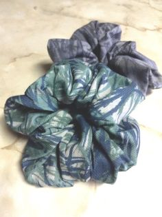 Set of two,Safari jungle print scrunchies,Blue Green & Gray,Novelty fabric used.Scrunchies,Summer fashion,Hair ties,Hair accessories #safari #jungle #forest #botanical #scrunchies #nature #hairstyle #bluegreen #greenblue #gray #etsy #ebay #fashion #summerlook #summer #African #africa #novelty #design #art #designer #hairties #hairaccessories