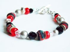 Ancient Island Bracelet - I LOVE the vibrancy in the red glass and the texture and colour in the bo-ho chic ones!