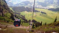 View from cable car - Mount Titlis