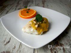 cod in orange-mint sauce / bacalao con la salsa de naranja y menta