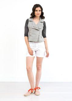 Scarlett Knit Moto Vest