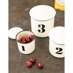 Enamel 123 Canisters