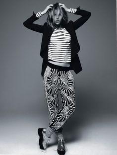 Vogue-style studio fashion photography.