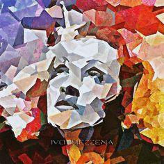 Marlene Dietrich (cubism) by IVO MEZZENA DIGITAL ALCHEMIST, via Flickr