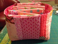 dream quilt create: Lined Fabric Basket Tutorial