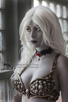 Lady Death, from Chaos. Claudia for Eye Candee Visuals. Bra designed by Ashley Gillick and created by Organic Armor. Tribal Fusion, Costume Dress, Gothic, Dress Up, Death, Cosplay, Costumes, Lady, Pretty