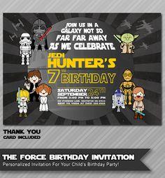 Star Wars Invitation Star Wars Birthday by WolcottDesigns on Etsy