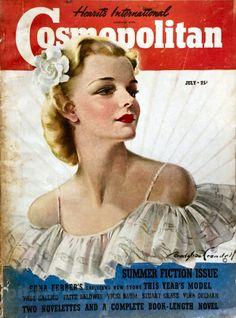 "Cosmopolitan magazine, JULY 1939 Artist: ""The Cosmopolitan Girl"" Bradshaw Crandell"