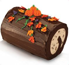 Thinking about this with my pumpkin pie. Baskin-Robbins | Fall Harvest Roll Cake