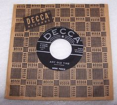 Webb Pierce Any Old Time b/w We'll Find A Way 45 RPM Record #EarlyCountryHonkyTonk