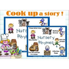 FREE Nursery Rhymes vocabulary mats