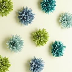 This fabulous tutorial from Martha Stewart will show you how to create pretty paper dahlia flowers in no time at all… Make sure you pop ov. Flower Wall, Wall Flowers, Paper Flowers, Teen Bedding, Teen Bedroom, Bedrooms, Cute Bedroom Ideas, Diy Bedroom Decor, Tiffany Bedroom