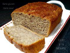 Cake à la banane sans gluten, sans oeuf, sans lait