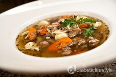Slow Cooker Chicken Noodle Soup from Diabetic Lifestyle