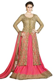 Stylee Lifestyle presents the all new collection of embroidered Salwar Suit material. Pair them with matching accessories to look trendy and gorgeous. DECLAIMER: The accessories on model are only for presentation purpose and not part of the product sold. The color of the product might slightly vary due to photoshoot effect or display brightness set-up.