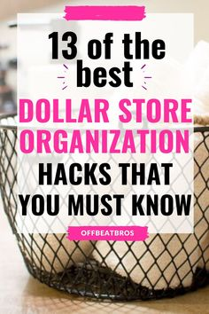 Need an organized home on budget. These dollar store organization ides will help you get an organized home using dollar store items on a budget. Check out these dollar store organization ideas today! #dollarstoreorganization #organizationideas #offbeatbros #dollarstorehacks #organizationtips Dollar Store Hacks, Dollar Store Crafts, Dollar Stores, Kitchen Organization, Organization Hacks, Declutter, Organize, How To Water Succulents, Household Products