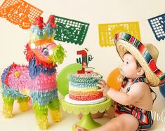 SombreroChildren's sombrero fiesta party boy girlprop smash cake outfitmexican me Mexican Birthday Parties, First Birthday Parties, Birthday Party Themes, Mexican Party, Birthday Ideas, Mexican Fiesta Cake, Baby Boy 1st Birthday, 1st Boy Birthday, Boss Birthday