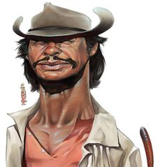 celebrity+caricatures | ... by mike rigoll in Showcase of Impressive Celebrity Caricatures: Part 2 Charles Bronson