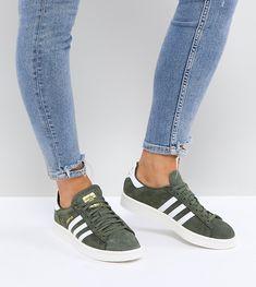 adidas Originals Campus Sneakers In Khaki - Green