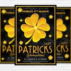 St. Patricks Day Celebration - Premium Flyer Template + Facebook Cover http://exclusiveflyer.net/product/st-patricks-day-celebration-premium-flyer-template-facebook-cover/