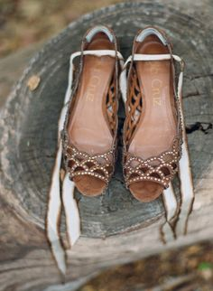 brown shoes // Style Me Pretty