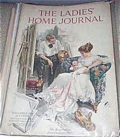 vintage ladies home journal magazine cover...Nov. 1914