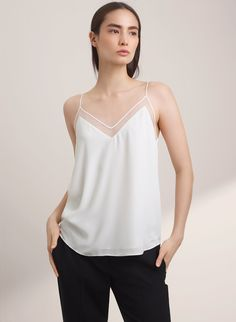 gorgeous camisole, also available in black, light pink, light blue, dark blue $60