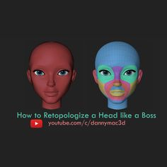 How to Retopologize a Head like a Boss, Danny Mac on ArtStation at https://www.artstation.com/artwork/yql58
