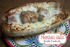 Homemade meatball subs using moms famous meatballs.