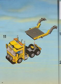 LEGO 7900 Heavy Loader instructions displayed page by page to help you build this amazing LEGO City set Lego Truck, Lego City Sets, Lego Vehicles, Lego For Kids, Lego Design, Lego Group, Lego Instructions, Cool Lego, Lego Ideas