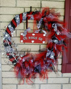 This is a Razorback Wreath I made