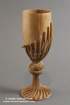 Nairi Safaryan - Modern Wine Goblet Pear Wood