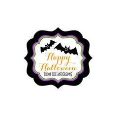 Spooky Halloween Personalized Frame Labels