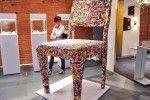 Giant Lego Chair by Alessandro Jordão