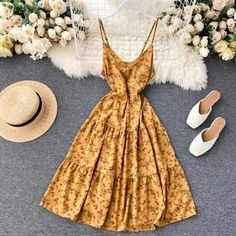 Party Dresses For Women, Casual Dresses For Women, Cute Dresses, Vintage Dresses, Floral Dresses, Summer Dresses, Classy Outfits, Girl Outfits, Trendy Outfits
