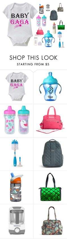 """BABY GAGA This Funny Baby Tee Collection Is Perfect For Wearing to The Next Family Outing"" by funnybabytees on Polyvore featuring The First Years, Kipling, Vera Bradley, CamelBak and Cuisinart"