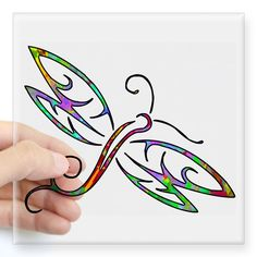 Colorful dragonfly Sticker for