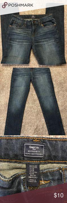 GAP KIDS BOYFRIEND FIT JEANS Dark wash. Size US 14. Boyfriend fit. Worn a few times. Great condition. GAP Bottoms Jeans