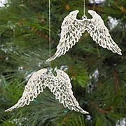 Angel wing ornaments