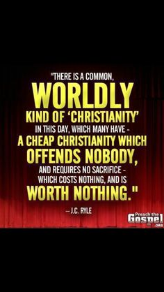 Why have a Christianity worth nothing?! Live for Christ no matter the cost.