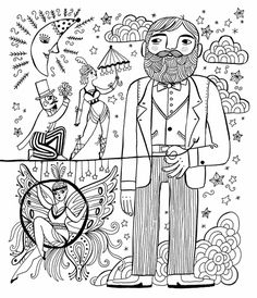 By Sarah Walsh Carnivale Coloring Book Just Add Color