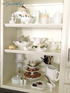My vintage Milk Glass collection #Fall #decor