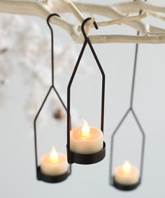 Look what I found on #zulily! Small Black Hanging Tealight Holder Set by Melrose #zulilyfinds