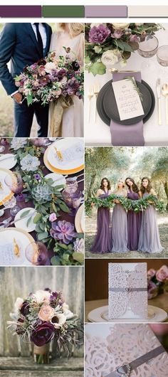 Elegant Greenery Plum Lavender Fall Wedding Color Palettes wedding colors september / fall color wedding ideas / color schemes wedding summer / wedding in september / wedding fall colors Lavender Wedding Centerpieces, Decor Wedding, Lavender Weddings, Wedding Bouquets, Wedding Venues, Lavender Wedding Theme, Wedding Favors, Lavender Wedding Invitations, Succulent Wedding Invitations