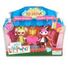 Mini Lalaloopsy Silly Fun House Twin Pack Blossom Flowerpot and Charlotte Charades